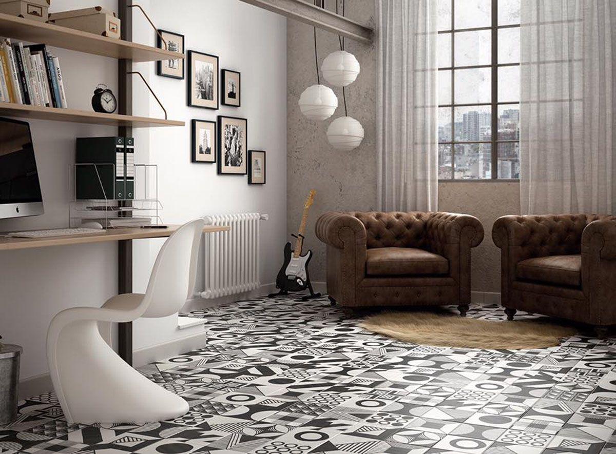 Carrelage Gres Cerame Imitation Ciment carrelage intérieur sol et mur - ceramix